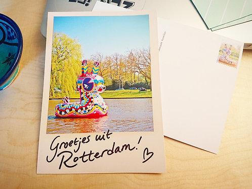 Kaart Badkonijn Groetje uit Rotterdam