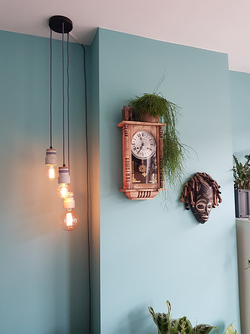 Beton hanglamp trio