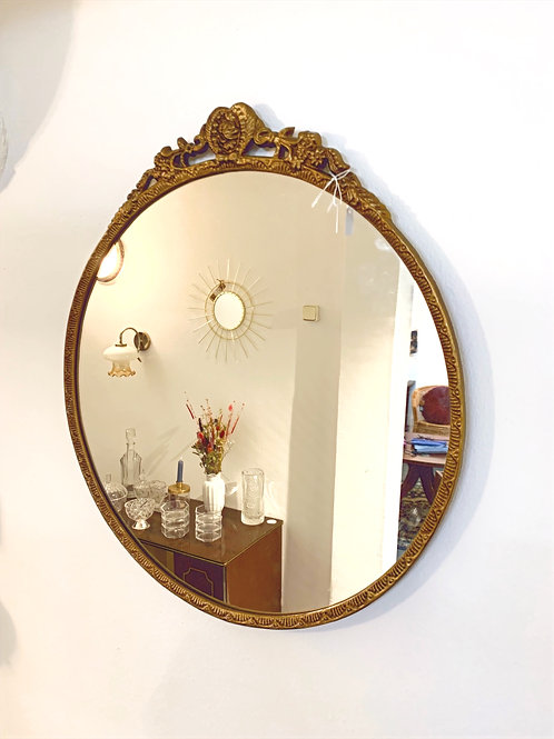 Ronde spiegel goud VERKOCHT