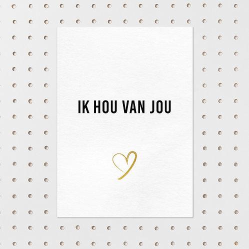 kaart - ik hou van jou