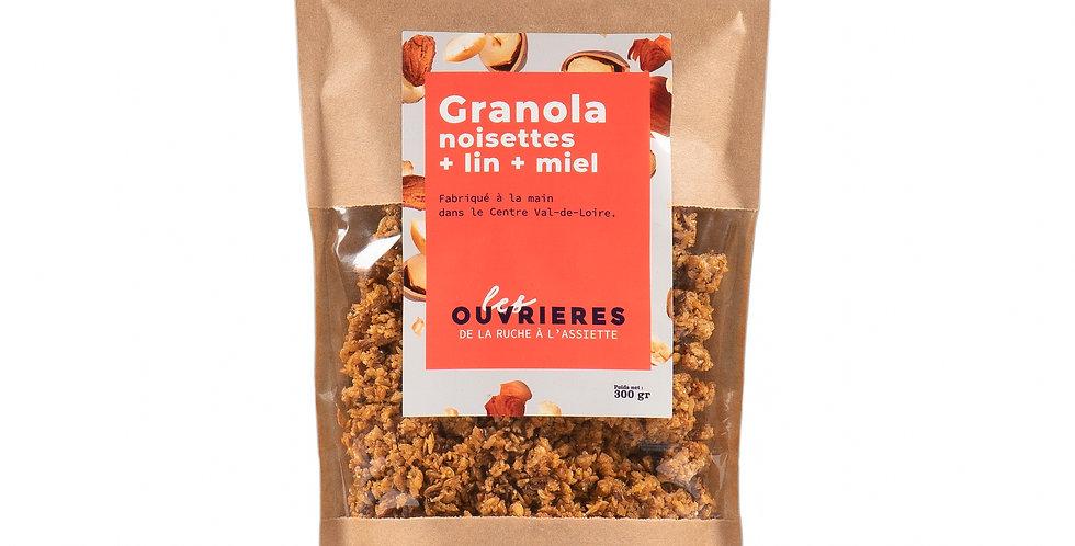 GRANOLA Noisettes + Graines de lin + Miel