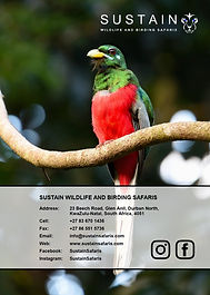 Sustain Safaris Brochure 2021 Back Cover