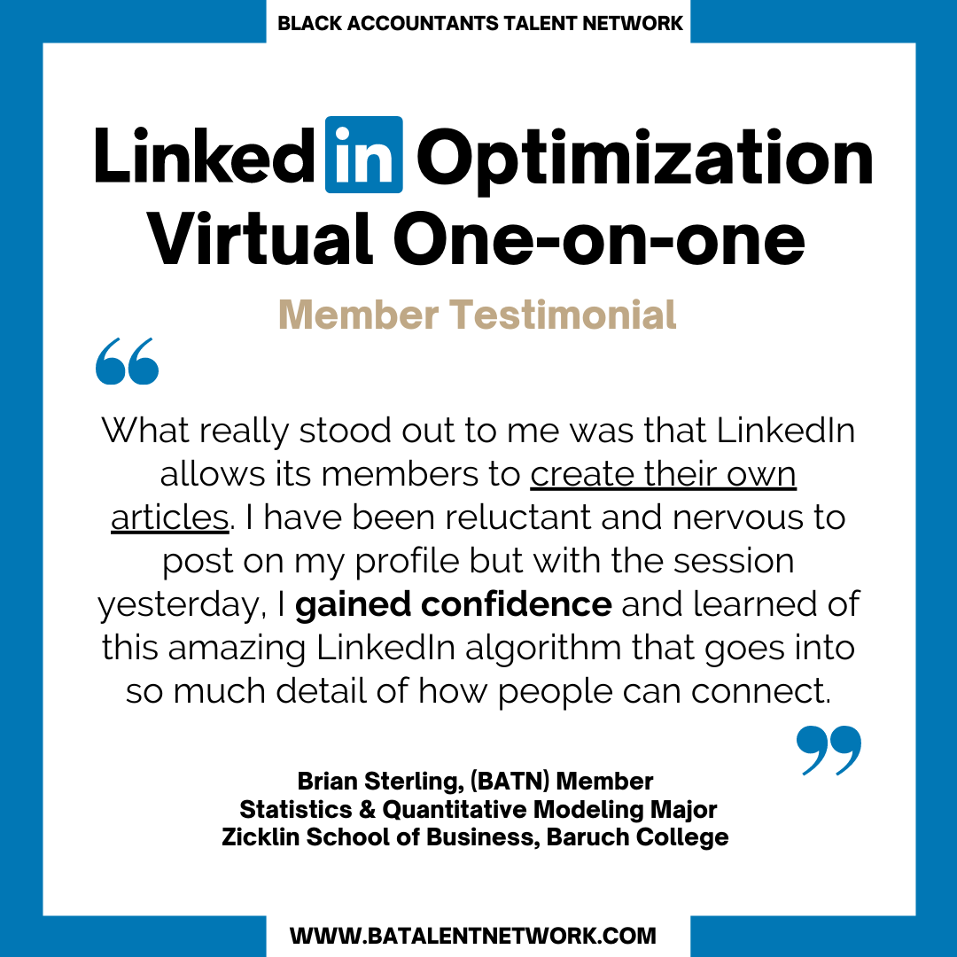 LinkedIn Optimization Session Testimonial