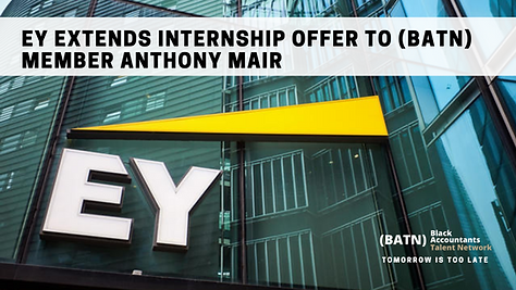 EY Extends Internship Offer to Black Accountant