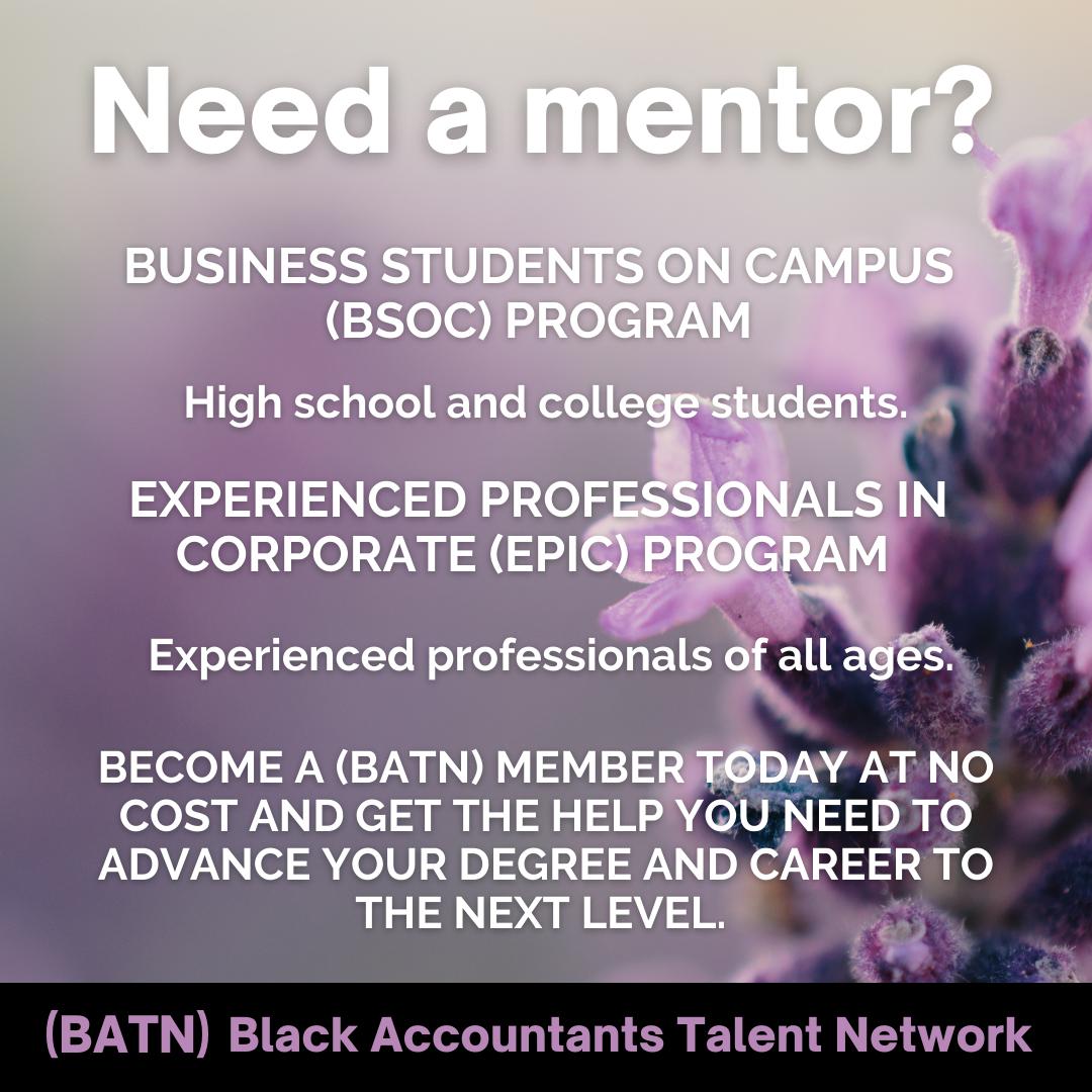 Need a mentor?