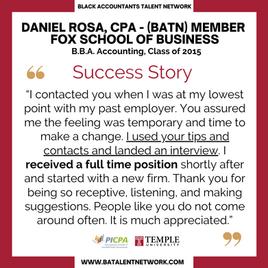David Rosa, CPA Testimonial