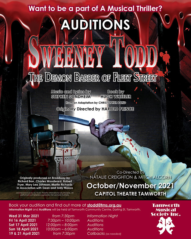Sweeney Todd - Audition Ad (1350 x 1080
