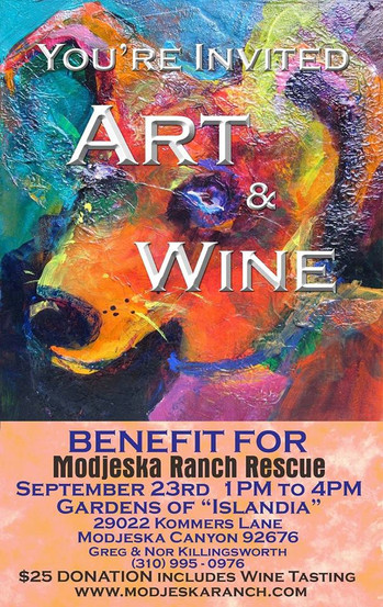 Preparing for the Art/Wine Fundraiser to benefit Modjeska Canyon Animal Rescue