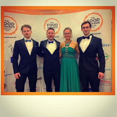Lovely evening at the Welsh food awards.