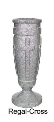 Memorial Upright Vases Cross