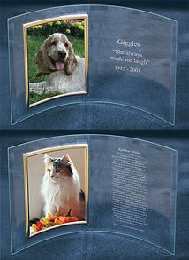 Pet photo & plus engraved