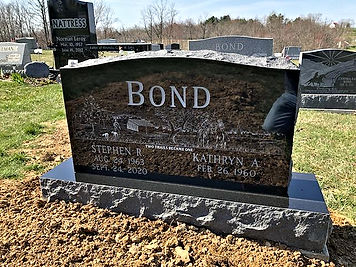 Bond monument etching