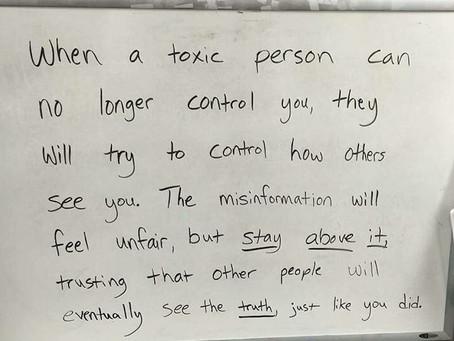 Caution *TOXIC PEOPLE* Danger