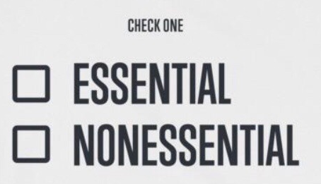 Essentially Non-Essential
