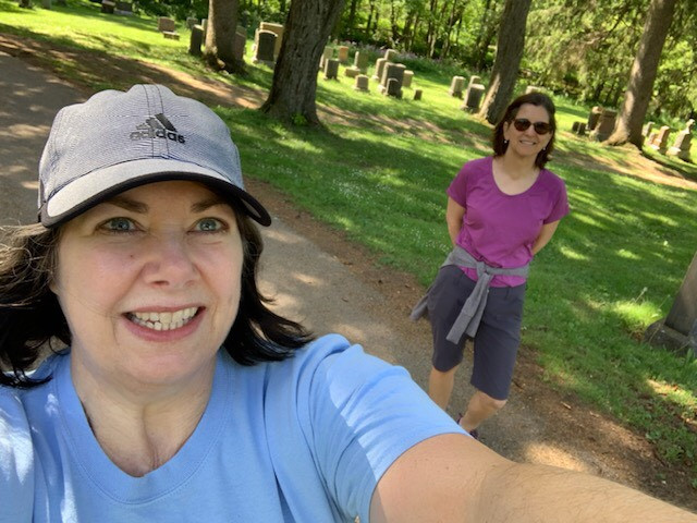 Fund Development Manager Lucie hiking with Carol!