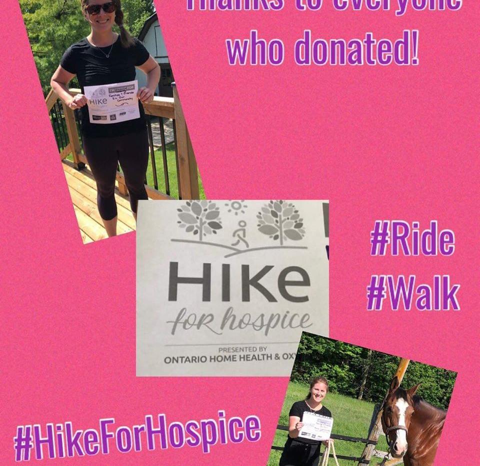 Hiking on horseback - now that's creative!