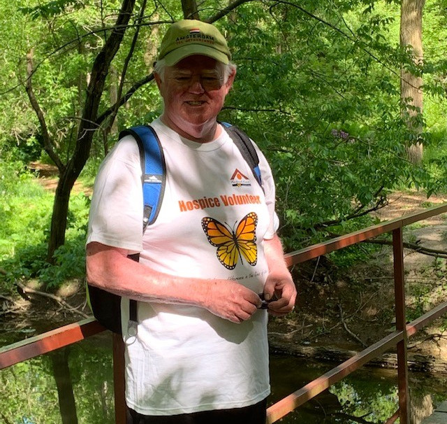 Board Director Dennis Young hiking