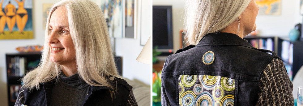 One-of-a-kind upcycled jean jackets for women