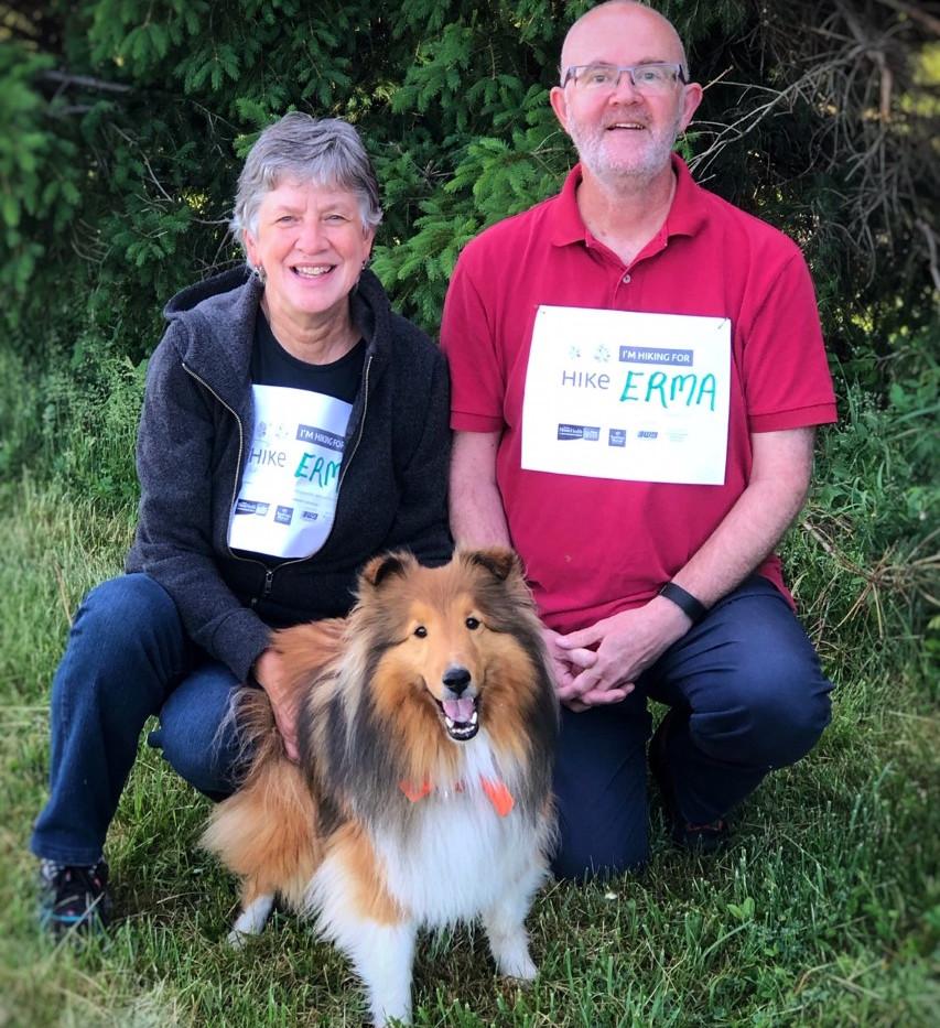 Carol & Stephen of Erma's Neighbours - also hospice volunteers!