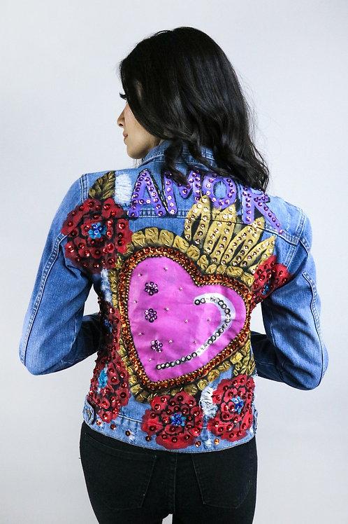 Corazón rosa amor