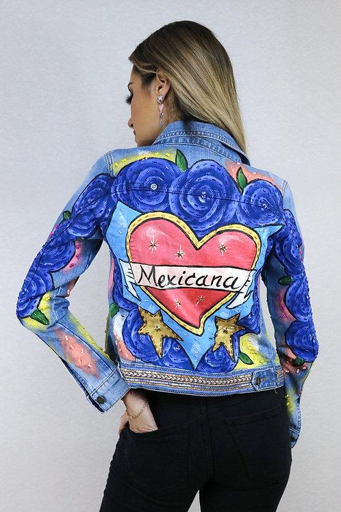 Mexicana flores azules