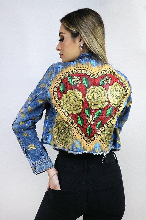 Golden flower heart