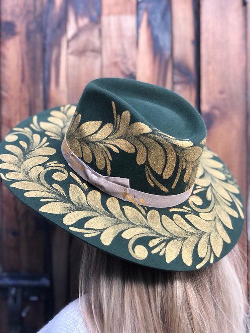 Sombrero lana filigranas