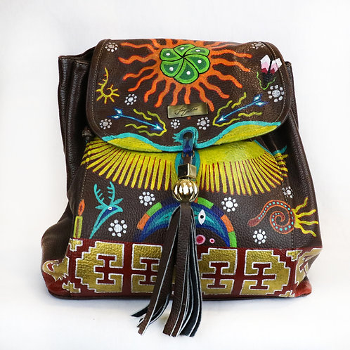 Mochila tradicional huichol