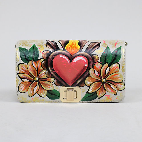 Violeta heart flowers