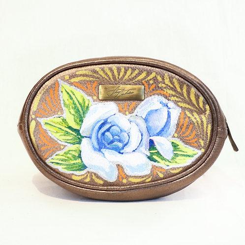 Cangurera flor azul