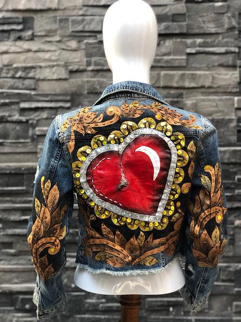 Corazón con filigranas