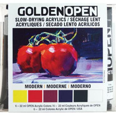Golden Slow-Drying Acrylics, Set of 6