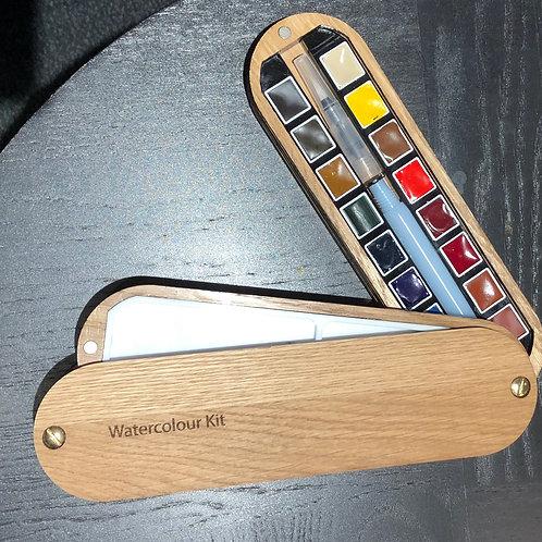 Wooden Watercolour Box