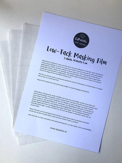 Low-Tack Masking Film