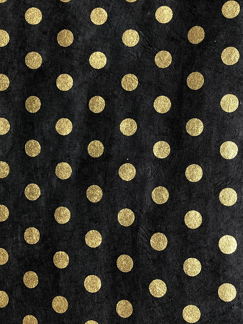 Lokta Screen-Printed Gold Dots (2 colours)