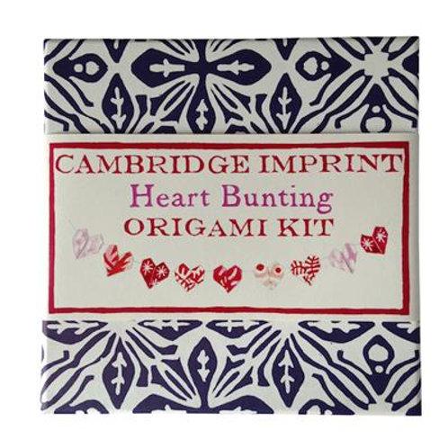 Cambridge Imprint Heart Bunting Origami Kit