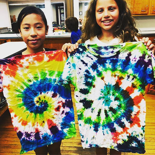 Our tie dye shirts turned out great😍🎨#