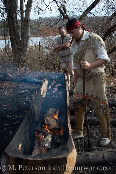 Canoes were burned through