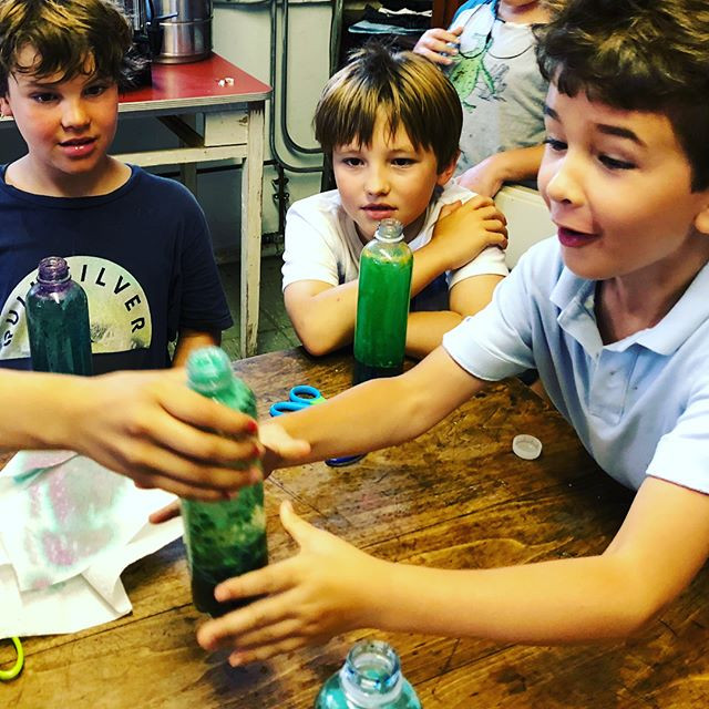 The kids loved making their own lava lam