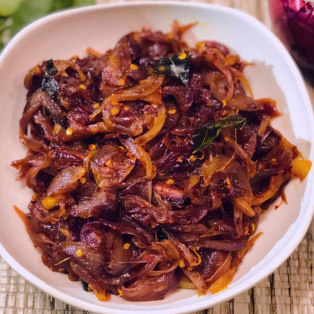 Seeni Sambol | How to make Caramelized onion filling