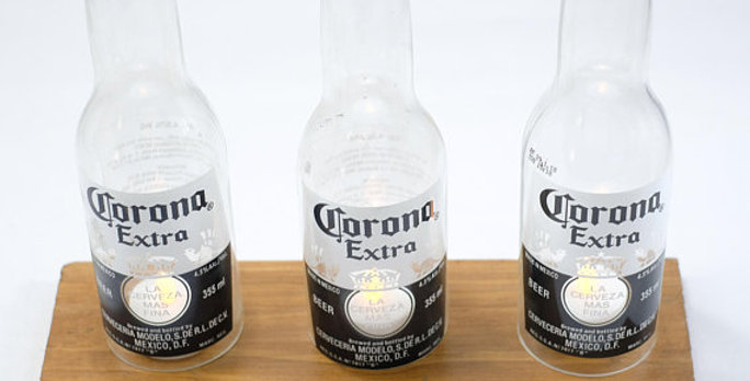 Corona Beer Bottle Candle Holder Stand - HOME & WEDDING DECOR