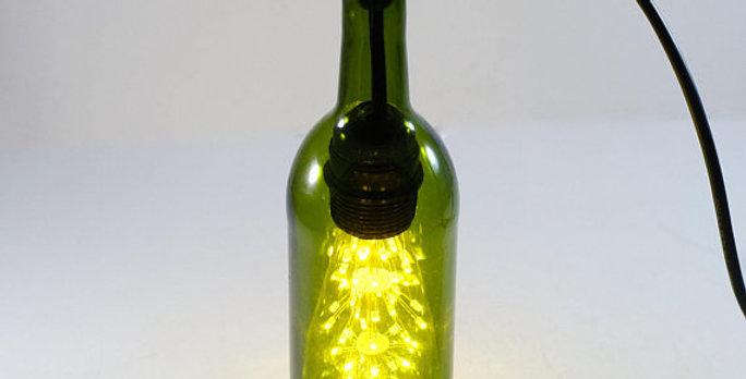 Wine Bottle Single Pendant Lamp Light Fixture | Industrial Bottle Lamp