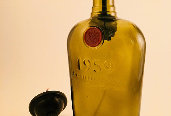 Rockford Reserve whiskey bottle hanging pendant light with fittings