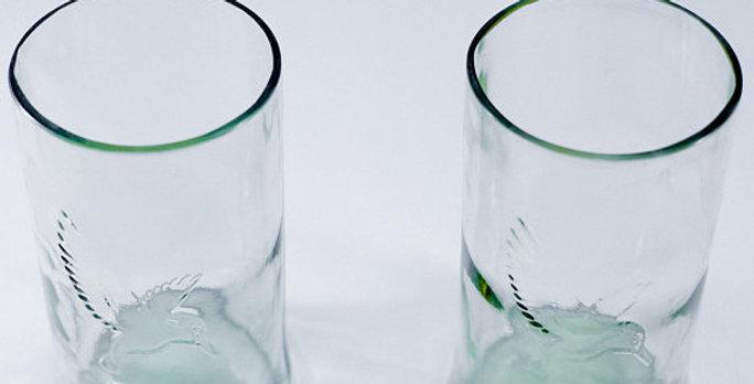 16 Ounce | 470 mlsIndian Beer Kingfisher Bird Clear Bottle Glasses | Drinkware
