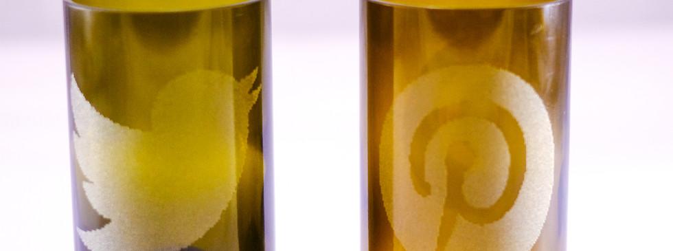 12 OZ OLIVE WINE TUMBLERS