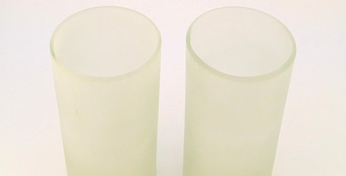 16 Ounce | 450 mls Frosted White Tumbler Cups | Repurposed Glassware