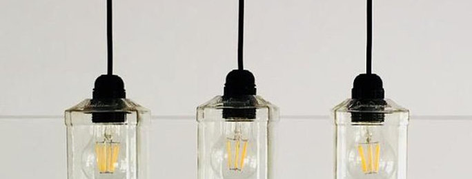 Jack Daniels Burbon Whiskey Bottle Chandelier | Single Line Lights for kitchen &