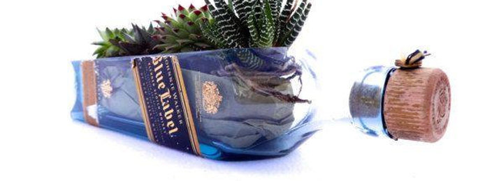 Johnnie Walker Blue Label Succulent Planter | Herb Garden Pot
