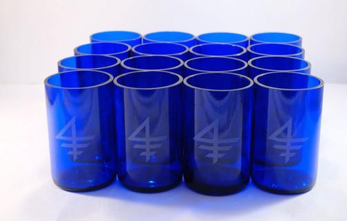 12 OZ SKY VODKA COBALT BLUE TUMBLERS