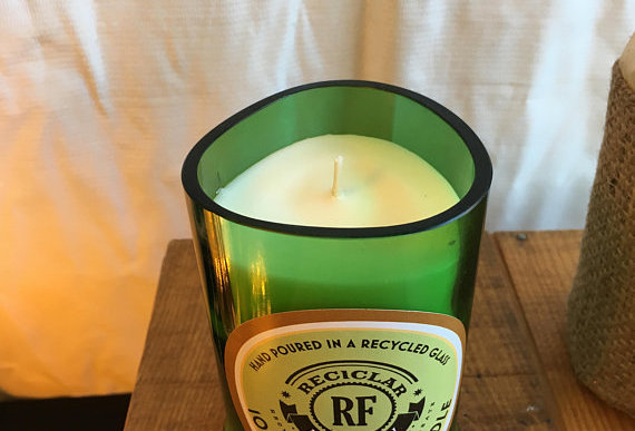 Soy Wax & Essential Oil Candle in Glenfiddich Bottle Glass